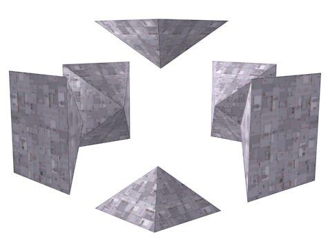 The Cube Pyramids